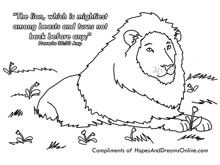 Proverbs 30:30 Coloring Page