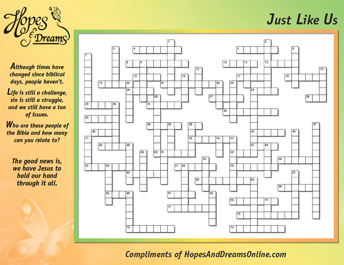Just Like Us Crossword Puzzle